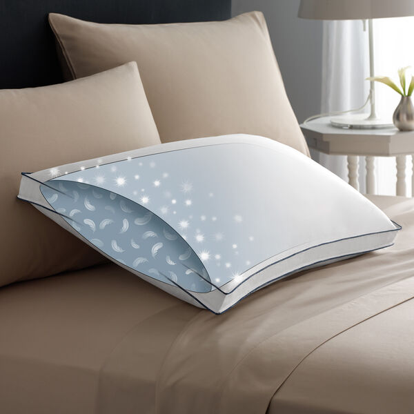 Double DownAround Medium Pillow Bed Pillows Illustration