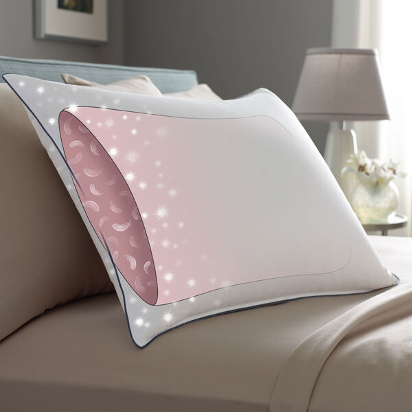AllerRest Double DownAround Pillow Interior Bed Pillows Illustration