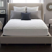 Restful Nights® 100% Cotton Mattress Pad Lifestyle Image