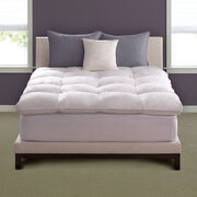 Hotel Deluxe Baffle Box Mattress Topper Lifestyle Image