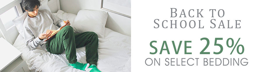 Back To School Sale - 25% Off Select Bedding