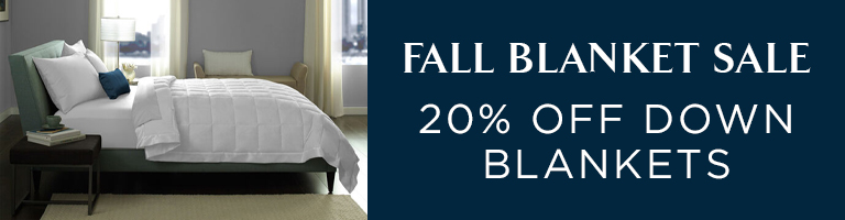 20% Off Down Blankets