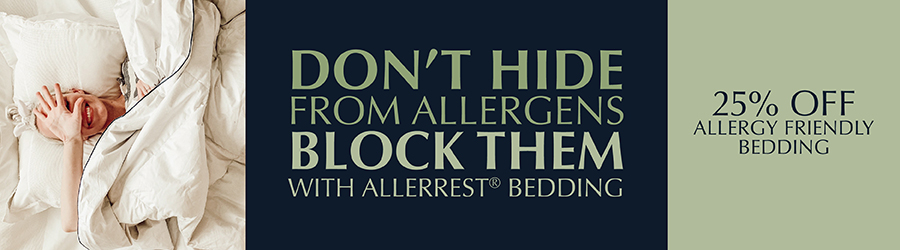 Sale - 25% Off  Allergy Friendly Bedding