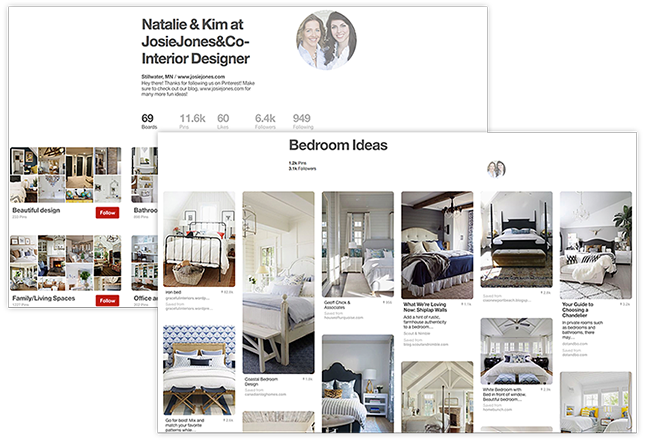 Pinterest Natalie & Kim, Josie Jones & Co Board