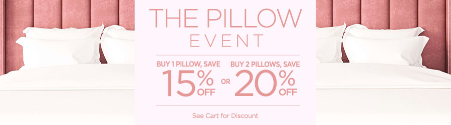Sale - Buy 1 Pillow At 15% Off Buy 2 Pillows At 20% Off