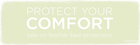20% off feather bed protectors