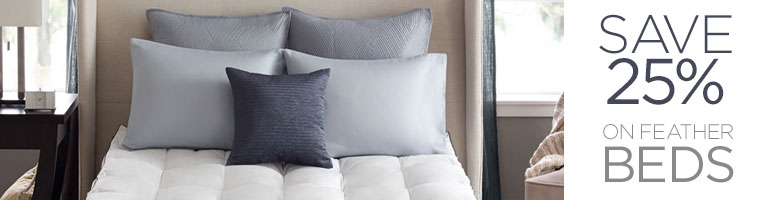 Feather Bed Sale - 25% Off Blankets, Comforters, And Pillows