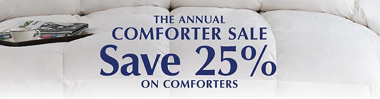 Sale - 25% Off Comforters