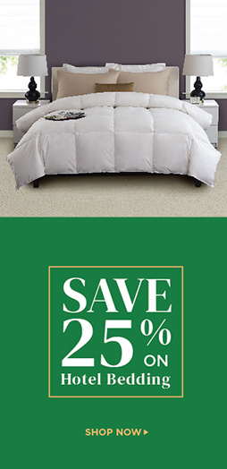 Save 25% On Hotel Bedding - Shop Now