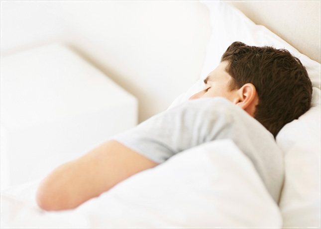 man sleeping image