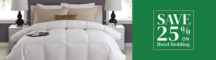 Sale - Save 25% On Hotel Bedding