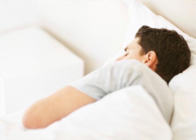 man sleeping image