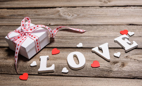 box with words love
