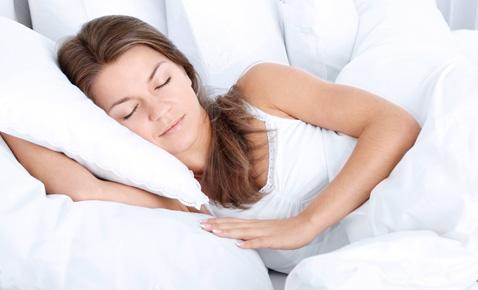 Women sleeping on pillow