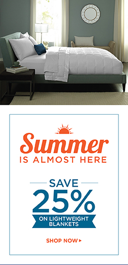 Save 25% On Blankets - Shop Now