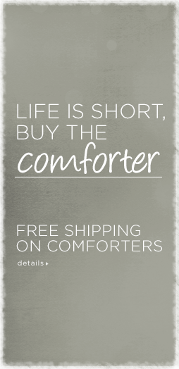 free shipping on comforters