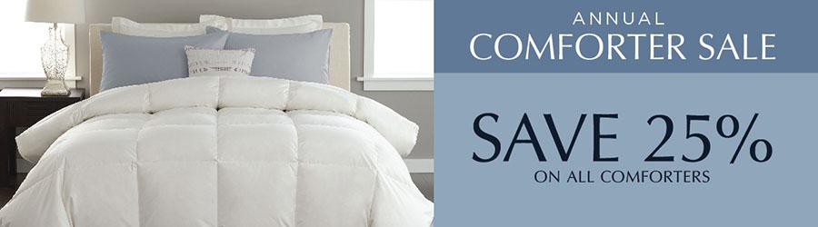 Annual Comforter Sale - 25% Off Comforters