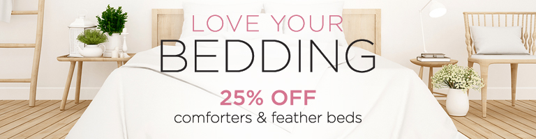 Sale - Save 25% On Comforters And Feather Beds