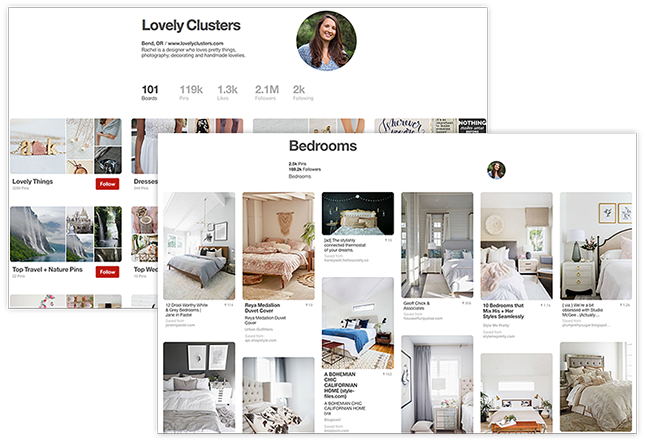 Pinterest Lovely Cluster Board