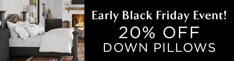 20% Off Down Pillows