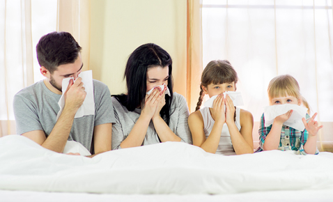 Family with allergies
