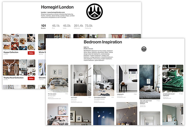 Pinterest Homegirl London Board