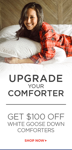 $100 Off White Goose Down Comforters - Shop Now