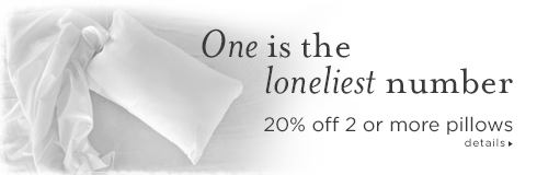 20% off 2 or more pillows