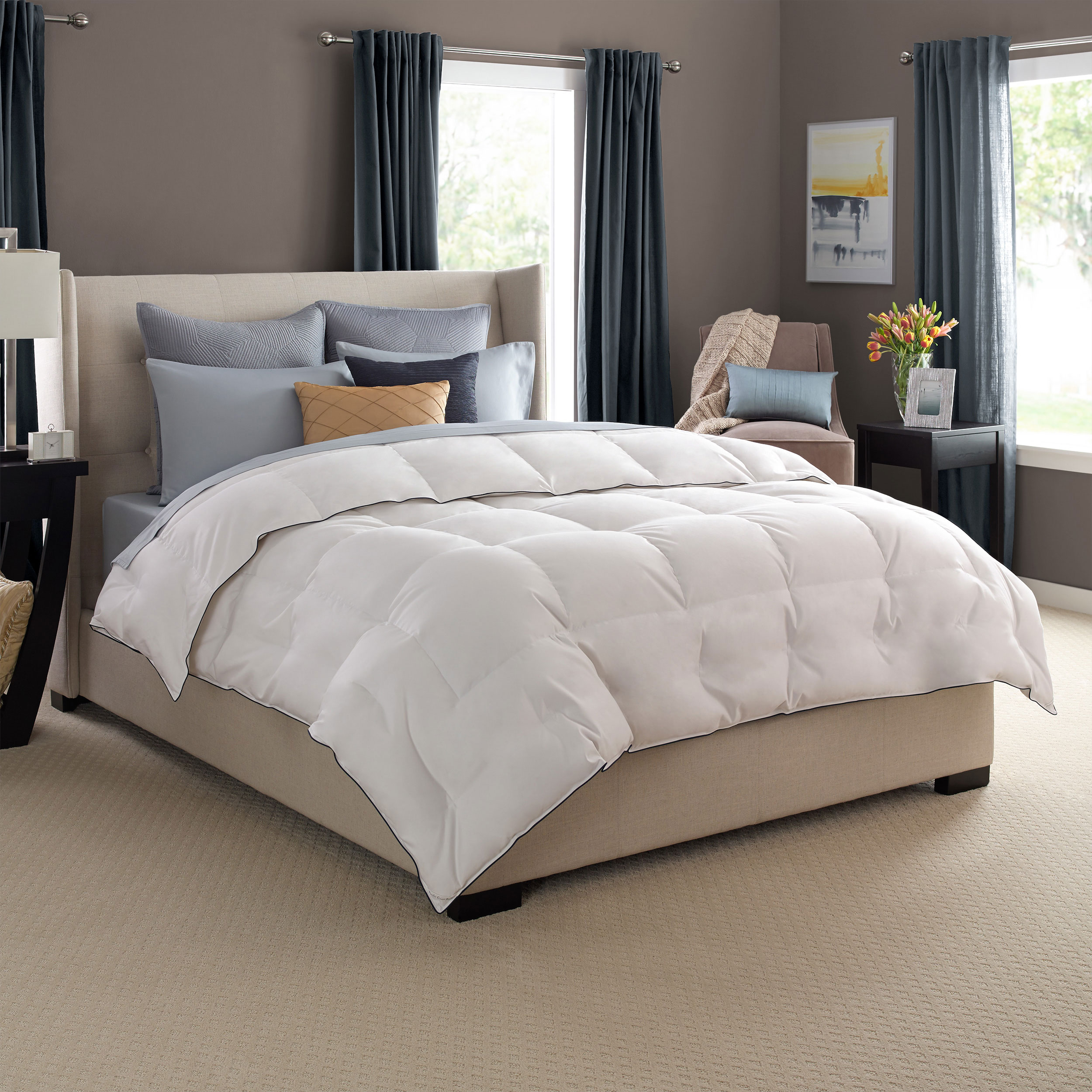 Pacific Coast Luxury White Goose Down Comforter 680 Thread Count 600 Fill Power White Goose Down - King