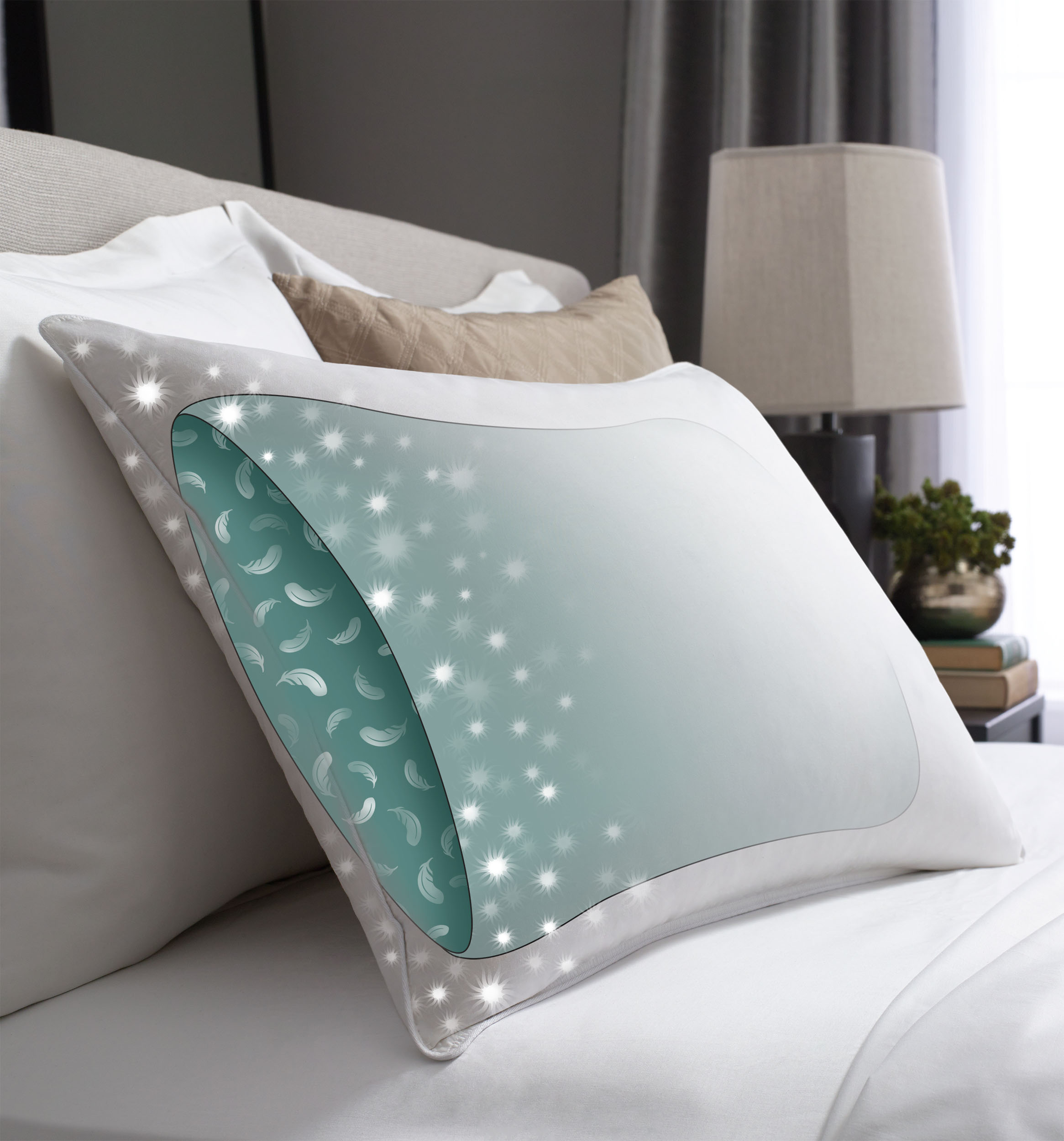 Pacific Coast Hilton Hotels Touch of Down Standard Pillow